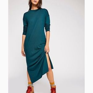 Free People Cowneck Shirt Dress